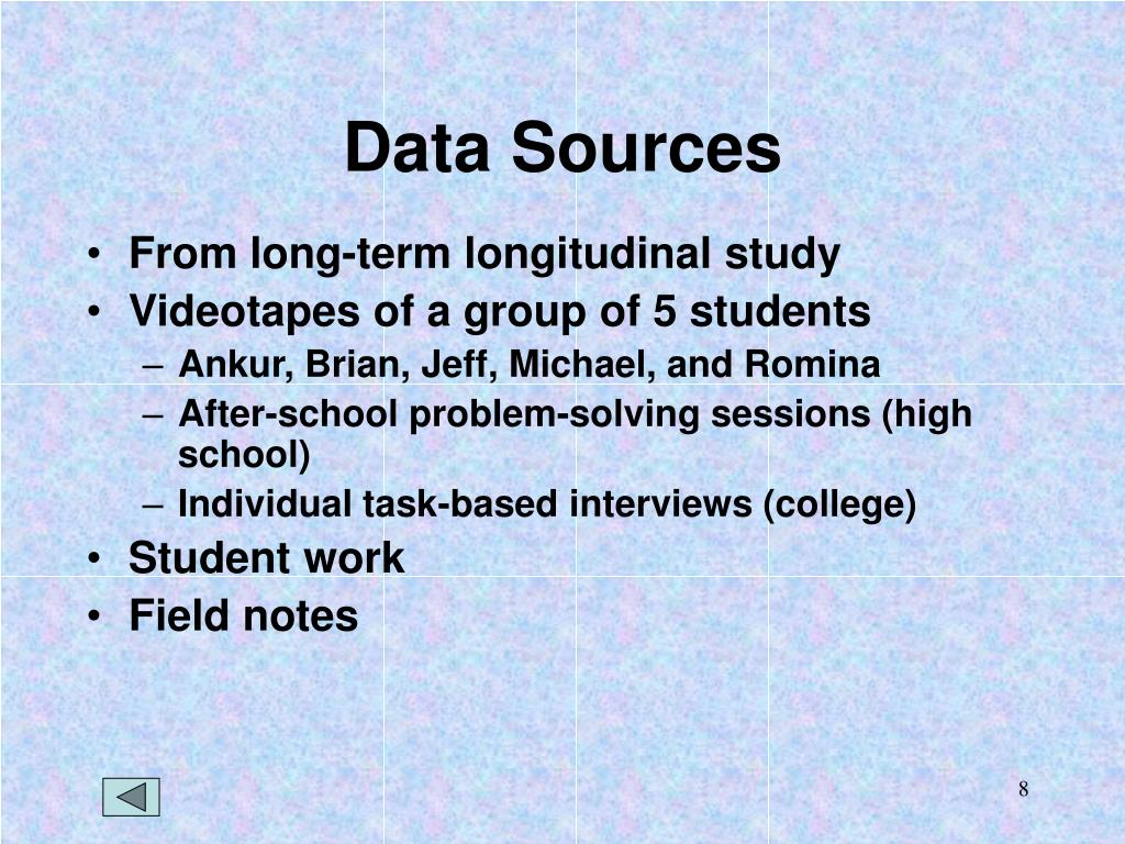 Data Sources