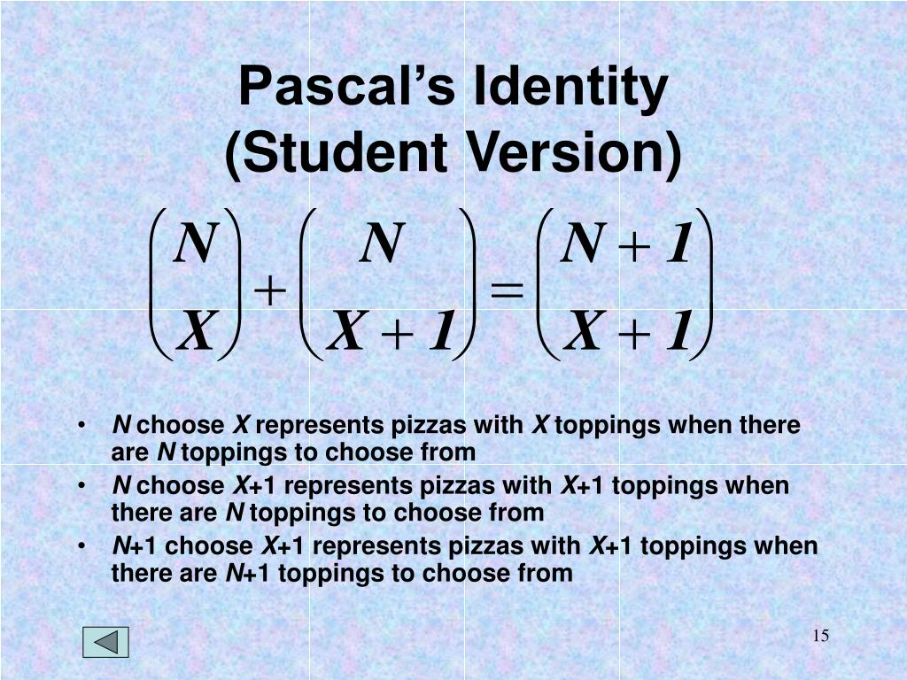 Pascal's Identity