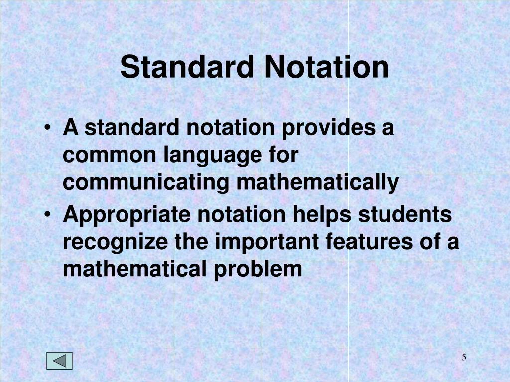 Standard Notation