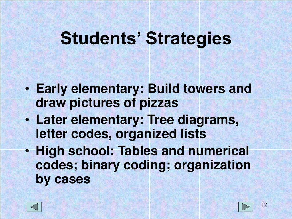Students' Strategies