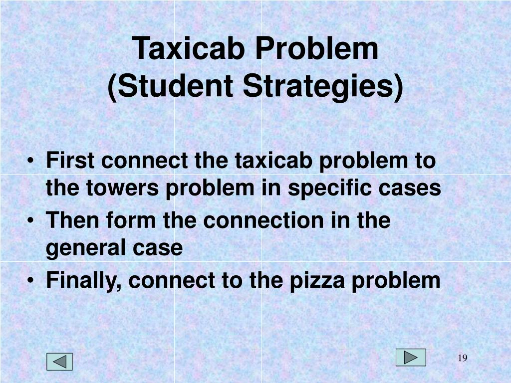 Taxicab Problem