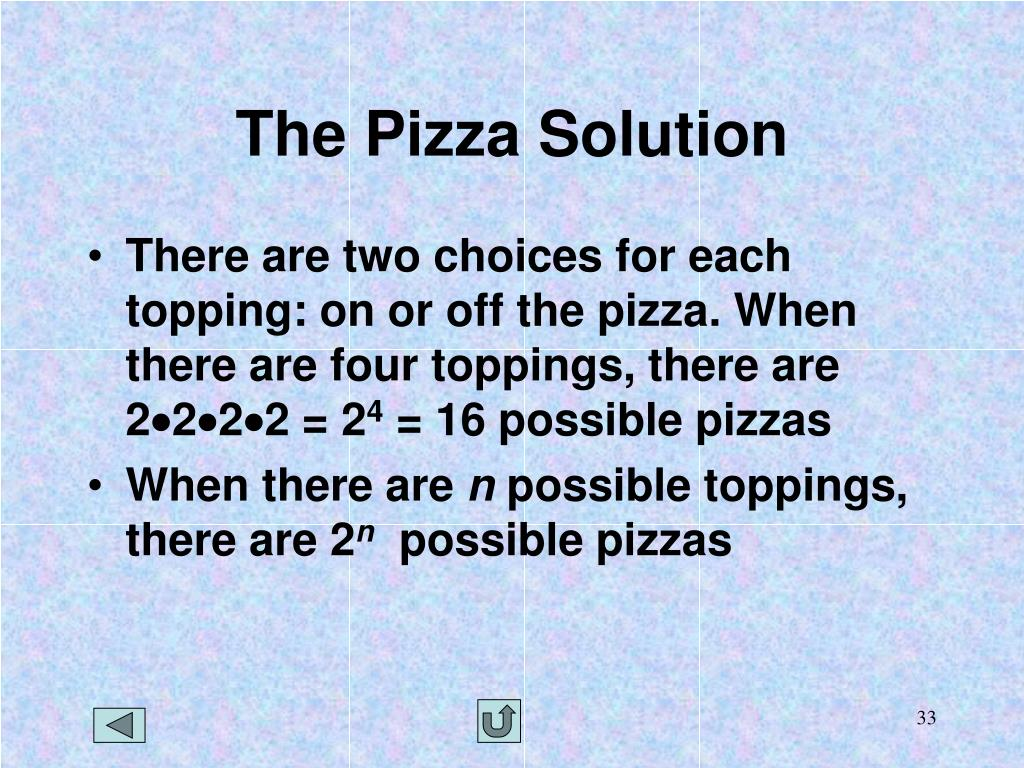 The Pizza Solution