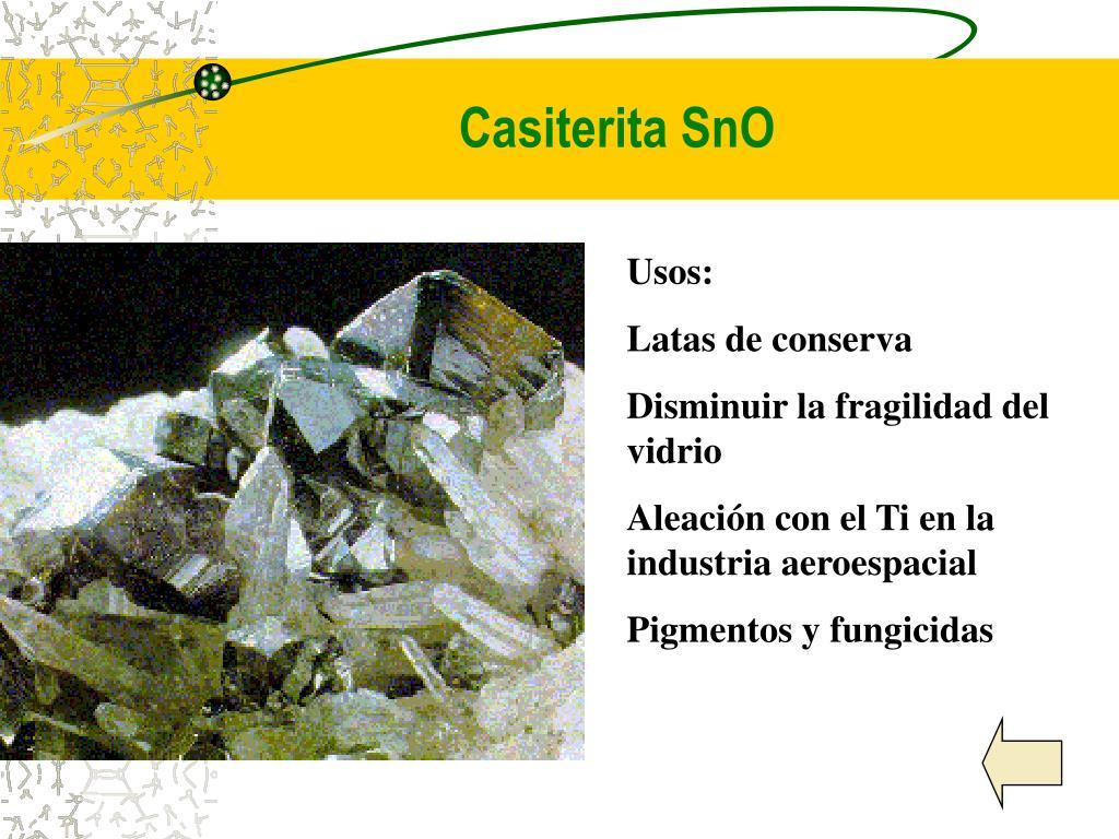 Casiterita SnO