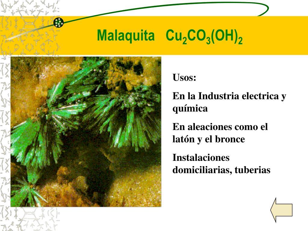 Malaquita   Cu