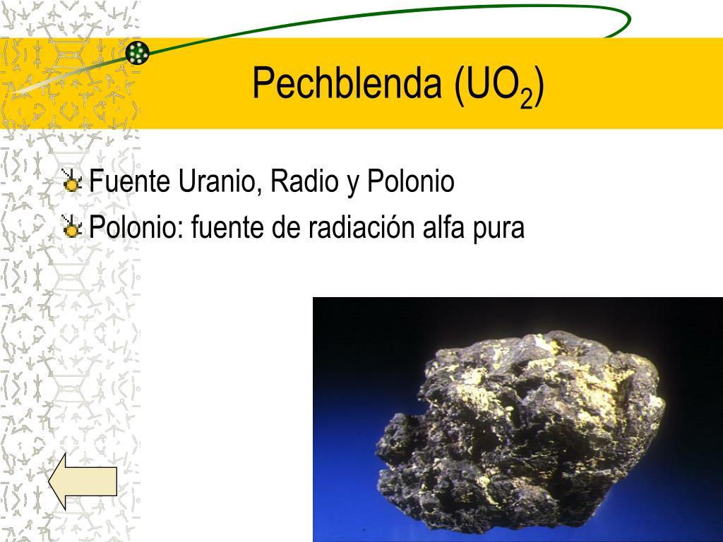 Pechblenda (UO