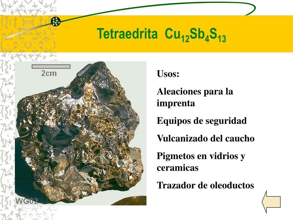 Tetraedrita  Cu