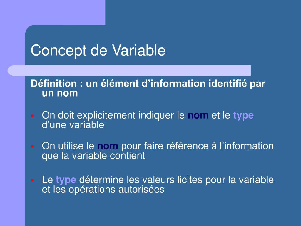 Concept de Variable