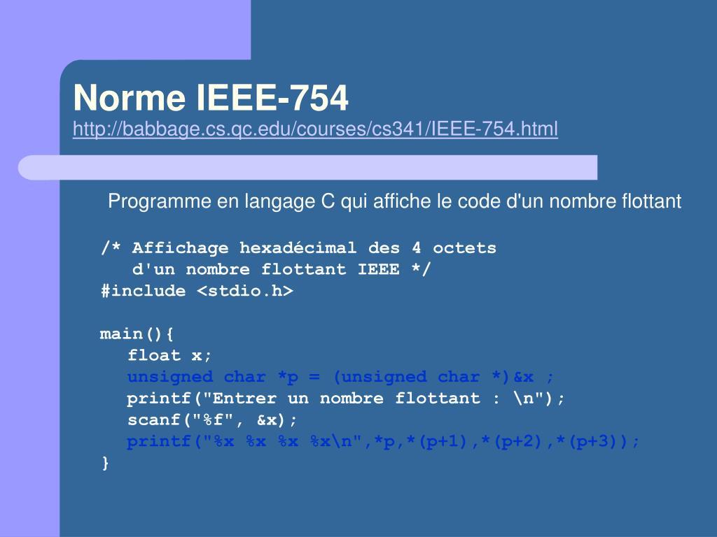 Norme IEEE-754