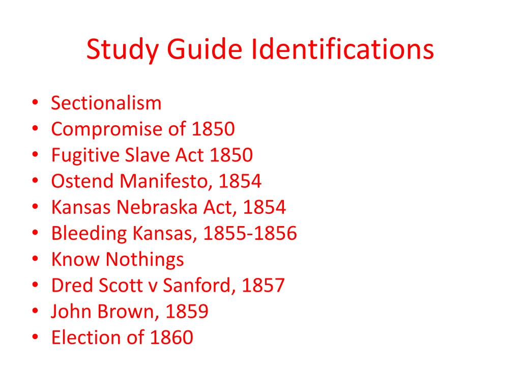 Study Guide Identifications