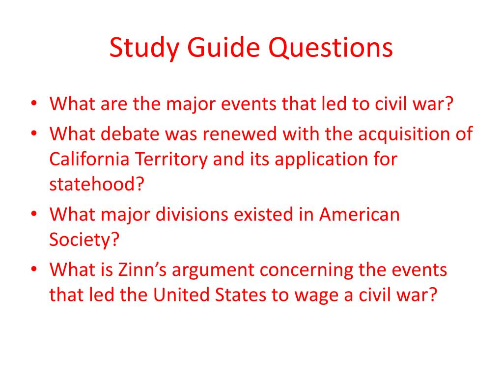 Study Guide Questions