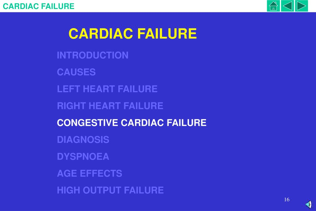 CARDIAC FAILURE