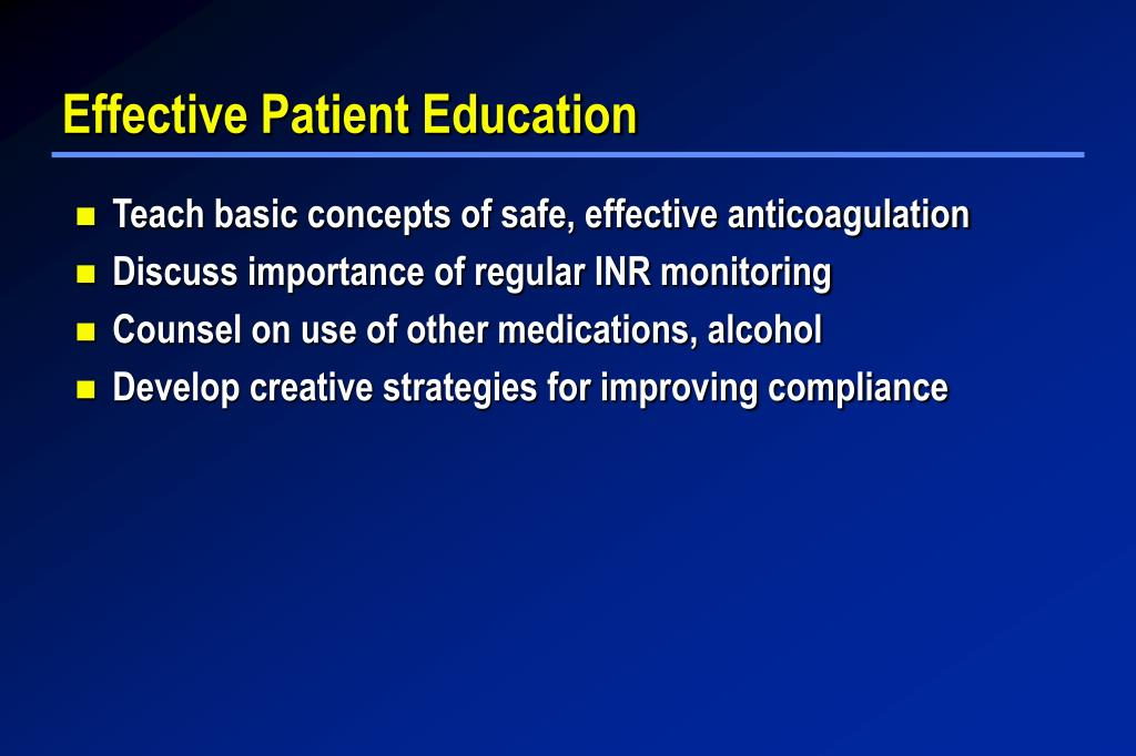 Effective Patient Education