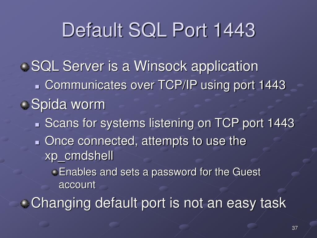 Default SQL Port 1443