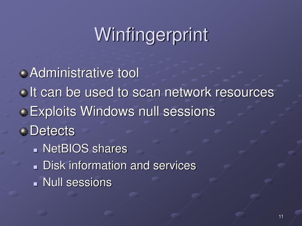 Winfingerprint