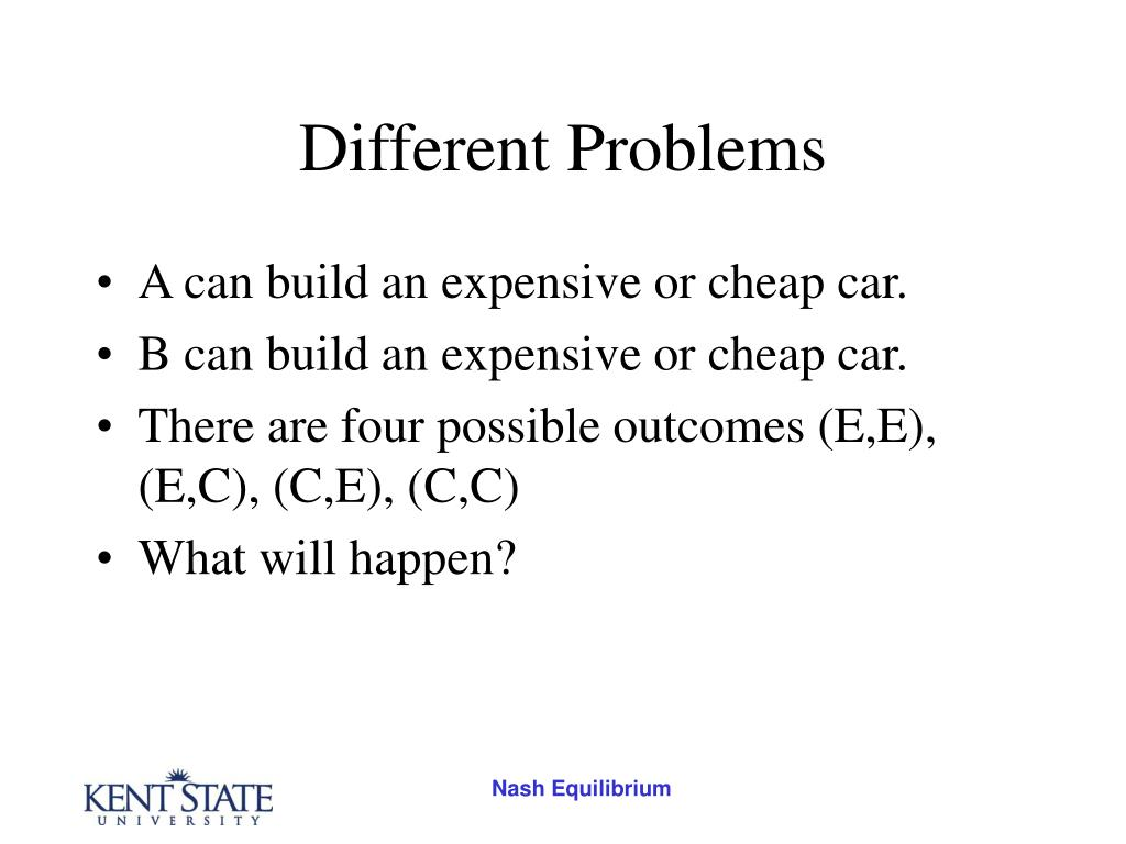 Different Problems