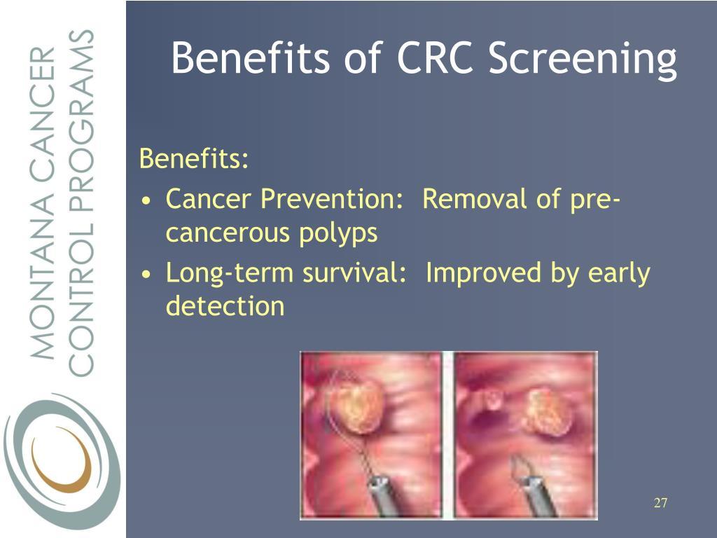 Benefits of CRC Screening