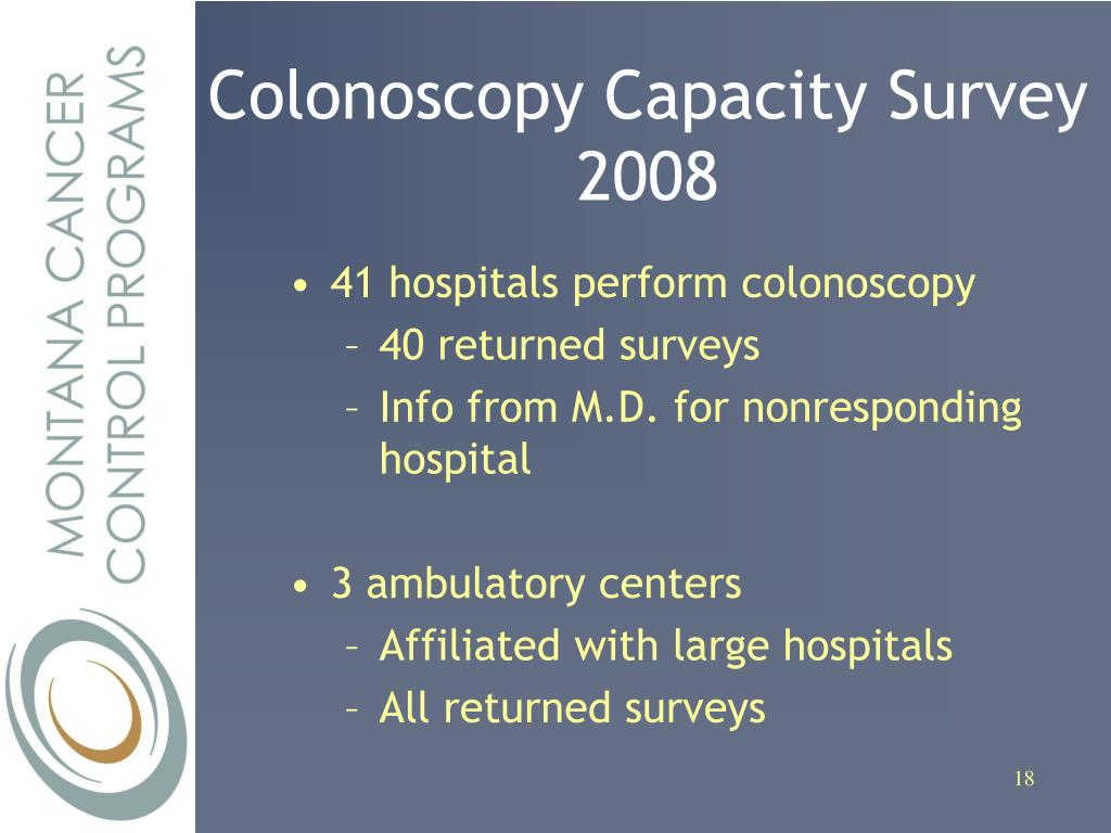 Colonoscopy Capacity Survey 2008