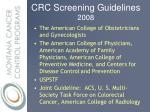 crc screening guidelines 2008