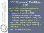 crc screening guidelines 20088