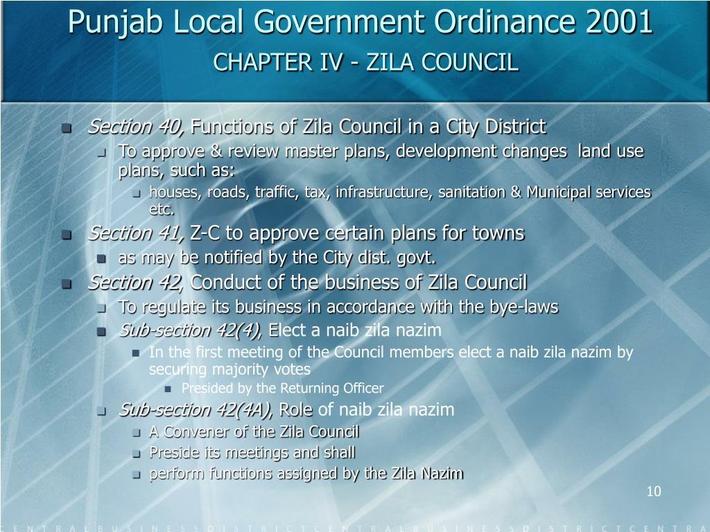 Punjab Local Government Ordinance 2001