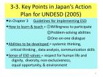 3 3 key points in japan s action plan for undesd 2005