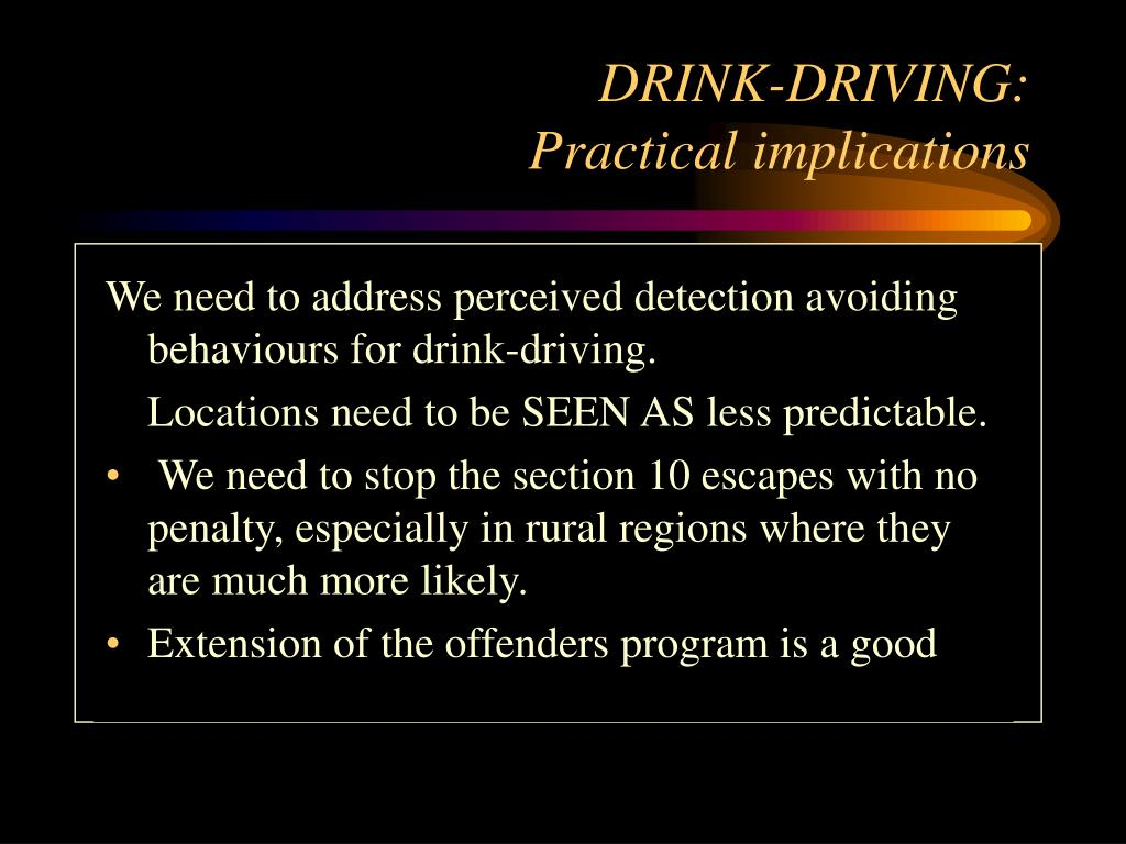 DRINK-DRIVING:
