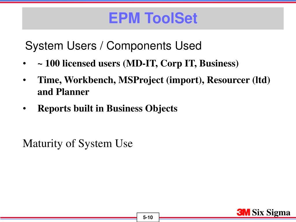 EPM ToolSet