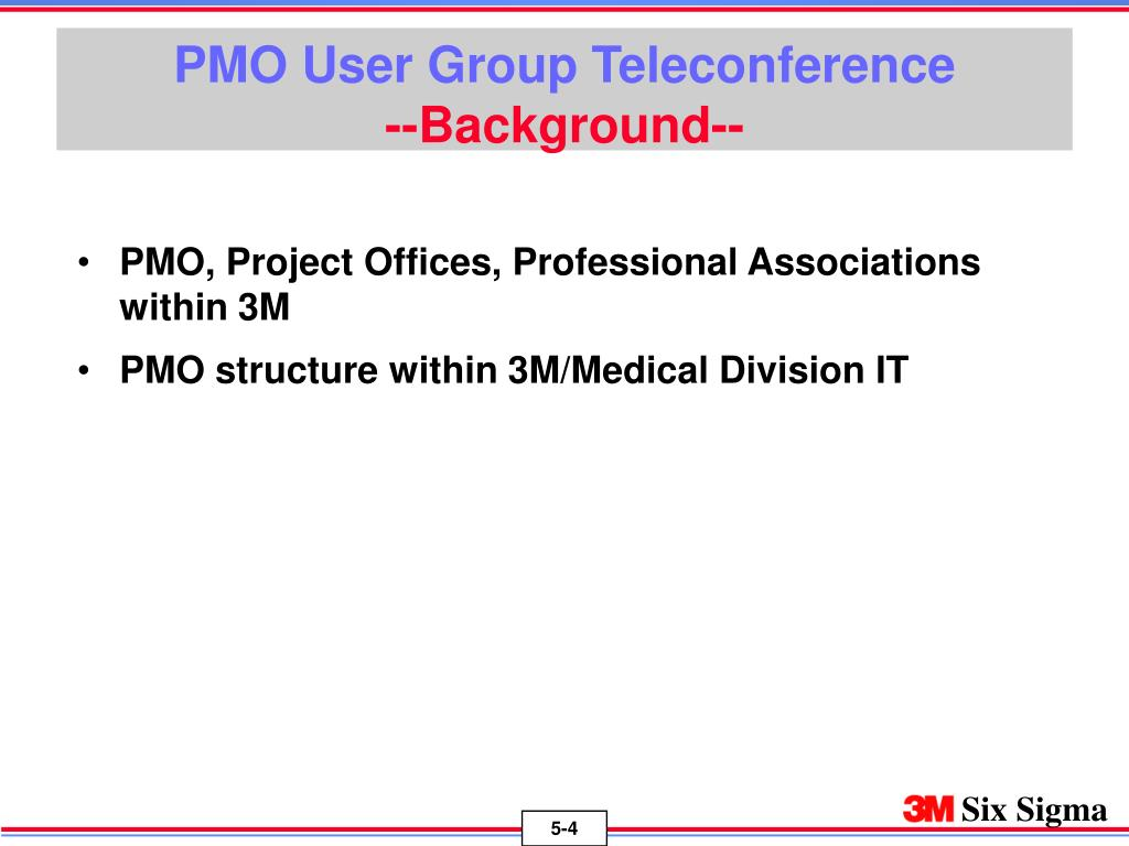 PMO User Group Teleconference