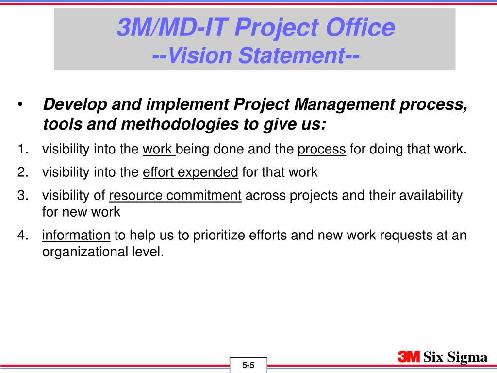 3M/MD-IT Project Office