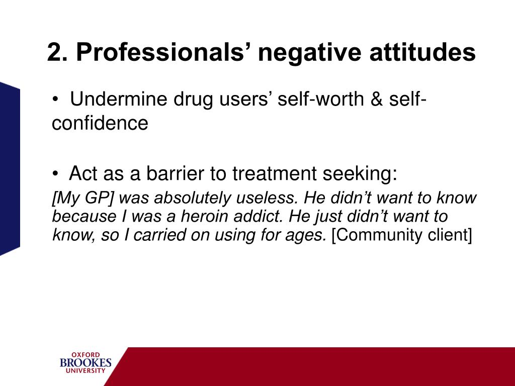 2. Professionals' negative attitudes