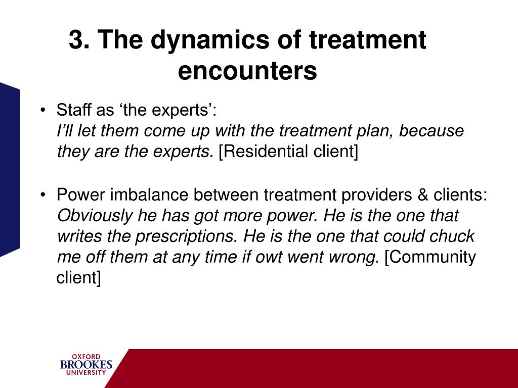 3. The dynamics of treatment encounters