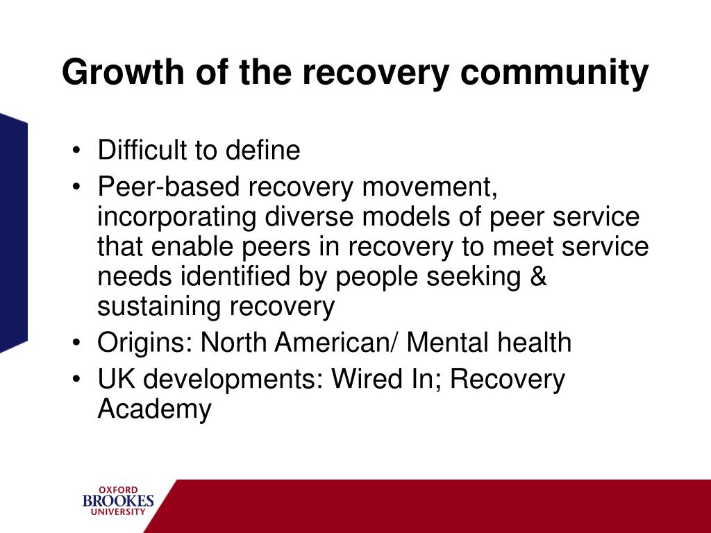 Growth of the recovery community
