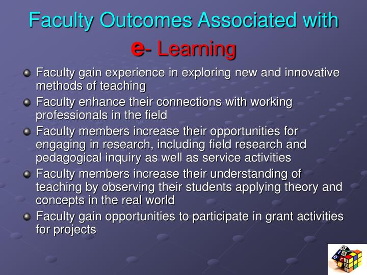 Faculty Outcomes Associated with