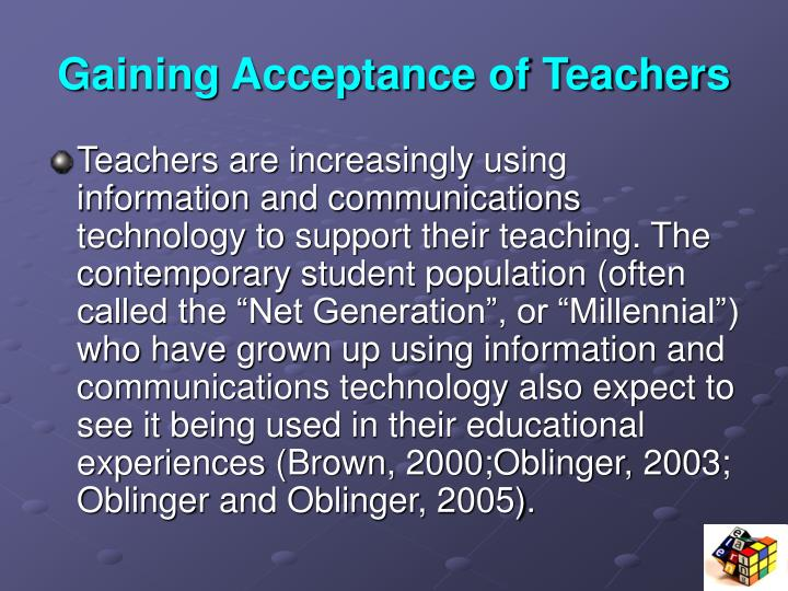 Gaining Acceptance of Teachers