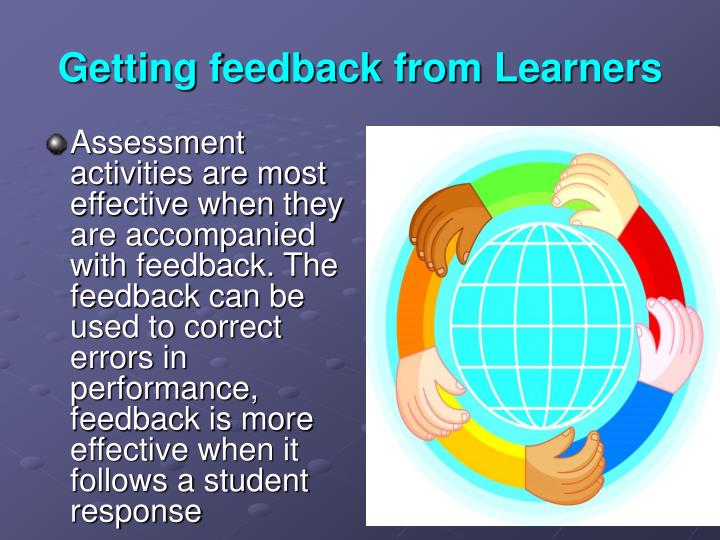 Getting feedback from Learners