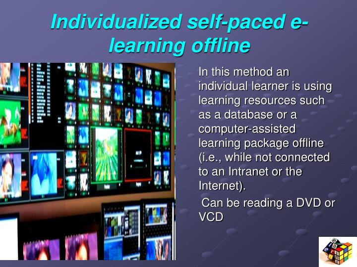Individualized self-paced e-learning offline