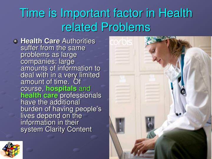 Time is Important factor in Health related Problems