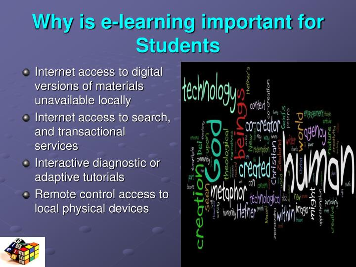 Why is e-learning important for Students