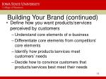 building your brand continued