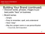 building your brand continued16