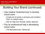 building your brand continued19