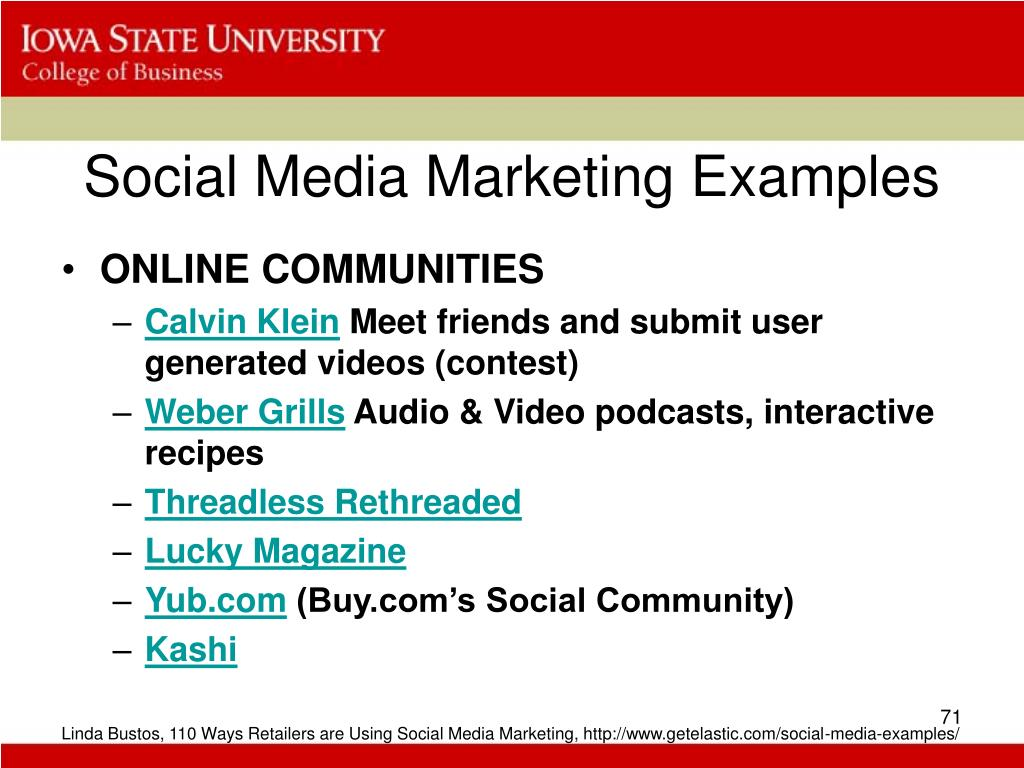 Social Media Marketing Examples