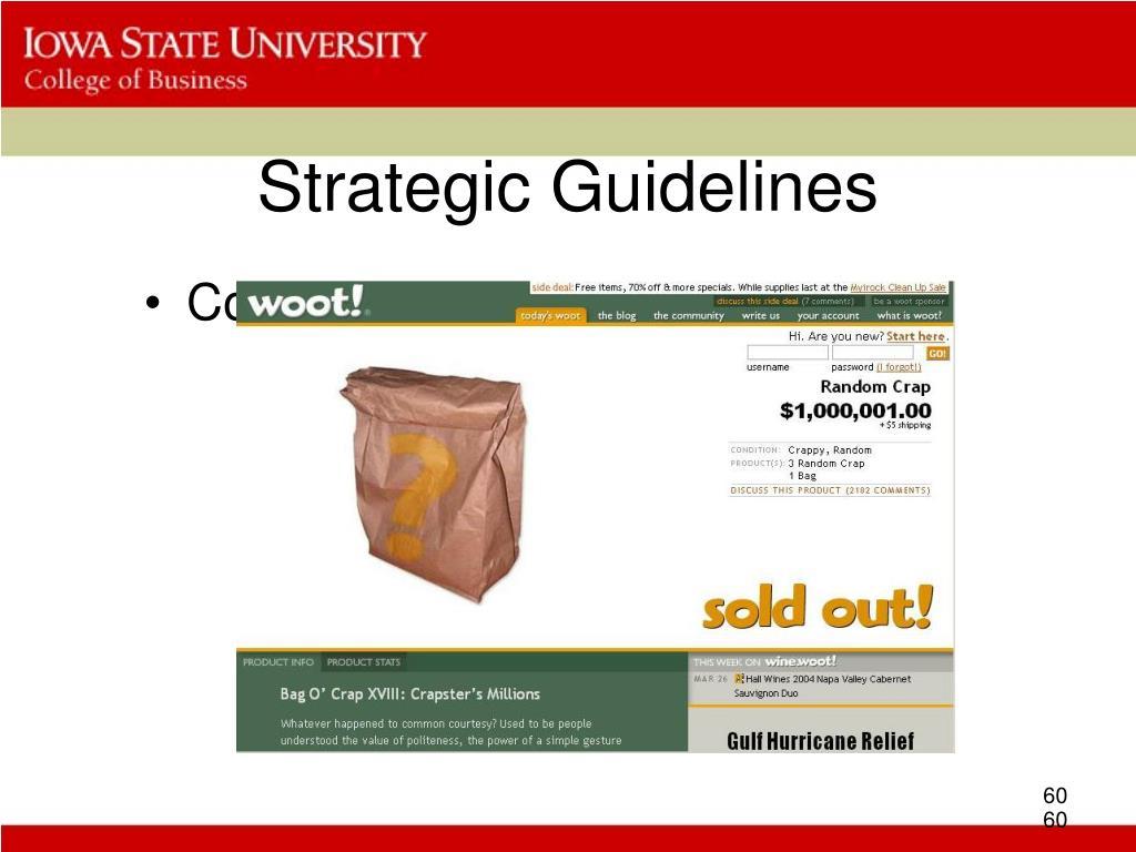Strategic Guidelines