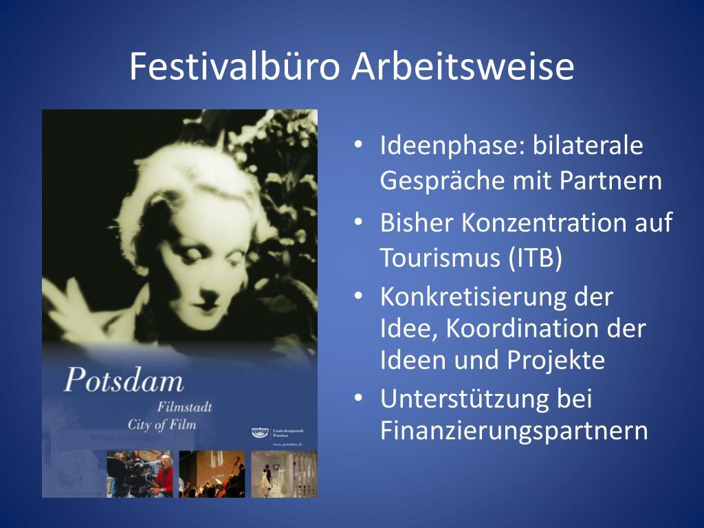 Festivalbüro Arbeitsweise