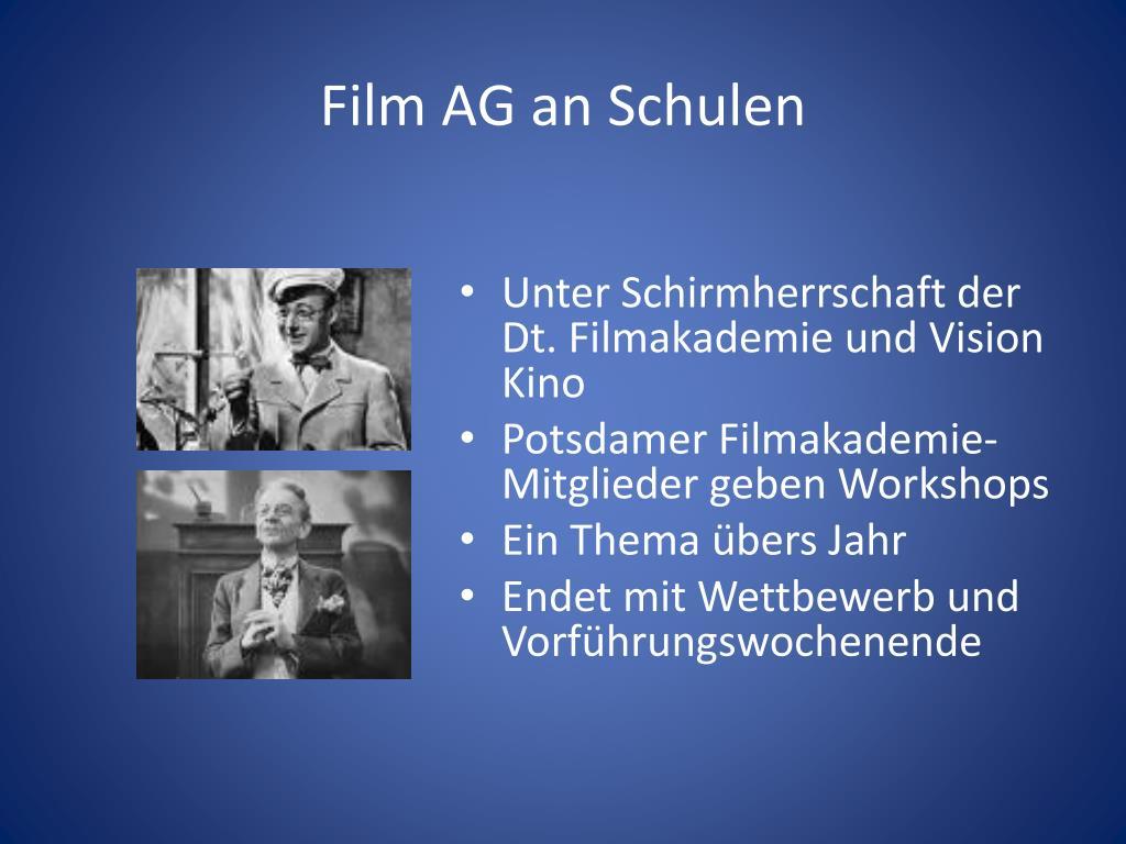 Film AG an Schulen