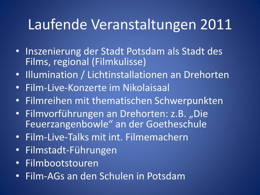 Laufende Veranstaltungen 2011