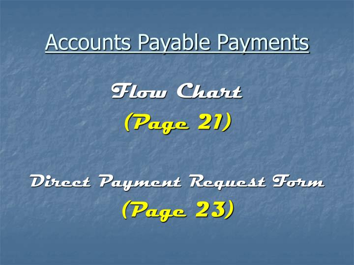 Accounts Payable Payments