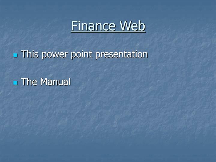 Finance Web