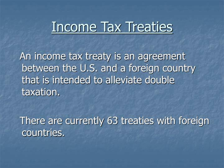 Income Tax Treaties