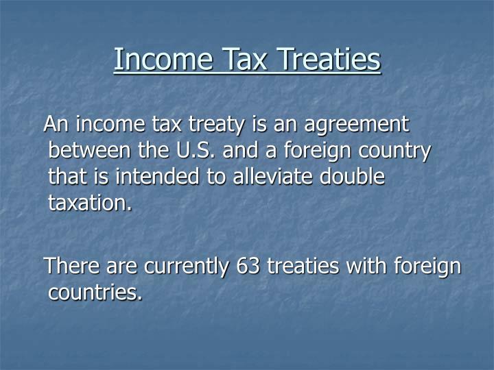 Income Tax Treaties